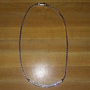 Swarovski Pave Bar Necklace